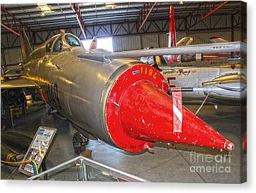 Mikoyan Gurevich Fishbed Mig-21r Canvas Print by Gregory Dyer