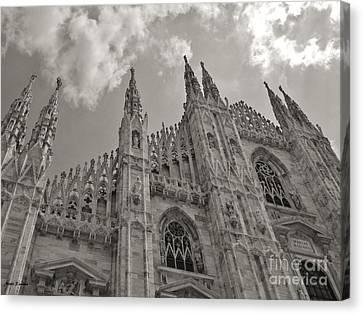 Milan Duomo Canvas Print by Ramona Matei