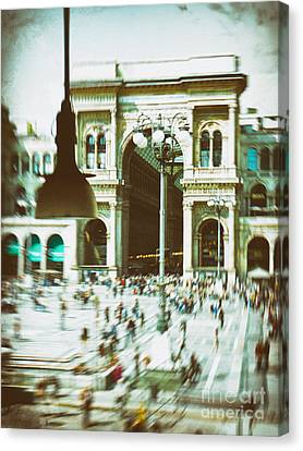 Canvas Print featuring the photograph Milan Gallery by Silvia Ganora