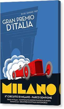 Milan Italy Grand Prix 1937 Canvas Print by Georgia Fowler