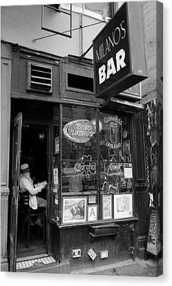 Milano's Bar 2 Canvas Print by Andrew Fare