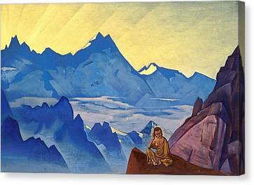 Milarepa Canvas Print - Milarepa - The One Who Harkened by Nicholas Roerich