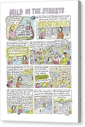 Mild In The Streets Canvas Print by Roz Chast