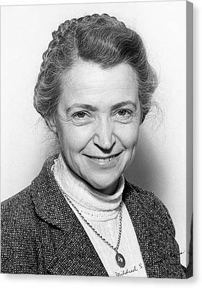 Mildred Dresselhaus Canvas Print by Emilio Segre Visual Archives/american Institute Of Physics