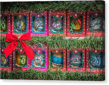 Us1 Canvas Print - Mile Marker 0 Christmas Decorations Key West 4 - Hdr Style by Ian Monk