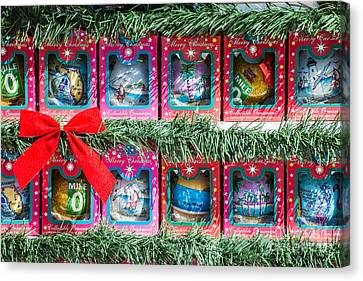Us1 Canvas Print - Mile Marker 0 Christmas Decorations Key West 4  by Ian Monk