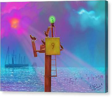 Mile Marker 9 Canvas Print by Gerry Robins