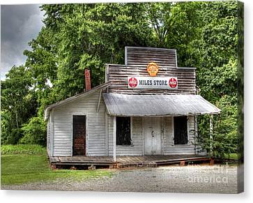Miles Country Store Canvas Print by Benanne Stiens