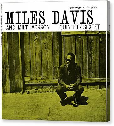 Miles Davis And Milt Jackson -  Quintet Sextet Canvas Print by Concord Music Group