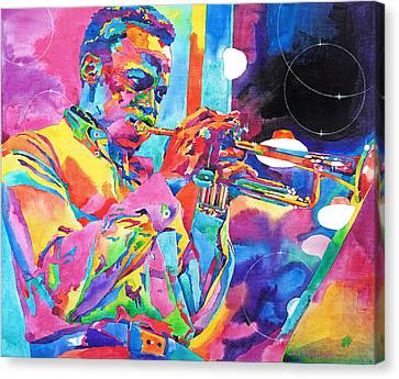 Miles Davis Bebop Canvas Print by David Lloyd Glover