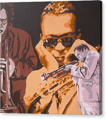 Miles Davis I Canvas Print by Ronald Young
