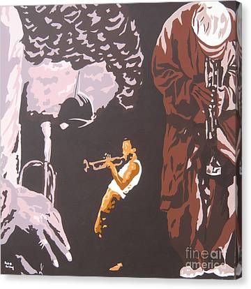 Miles Davis II Canvas Print by Ronald Young