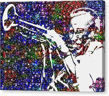 Miles Davis Canvas Print by Jack Zulli