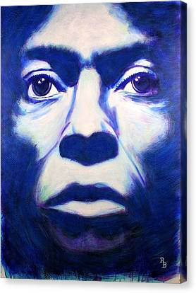 Canvas Print featuring the painting Miles Davis Tutu Album Cover by Bob Baker