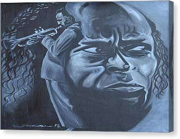 Miles Canvas Print by Hasaan Kirkland