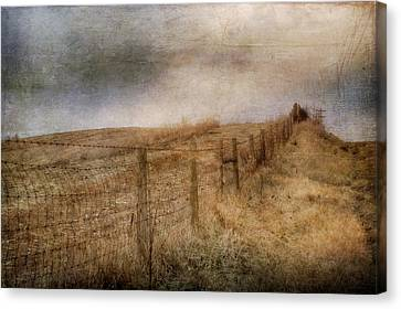 Fence Row Canvas Print - Miles Of Bliss by Kathy Jennings