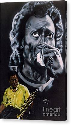 Canvas Print featuring the painting More Miles Of Davis by Thomas J Herring