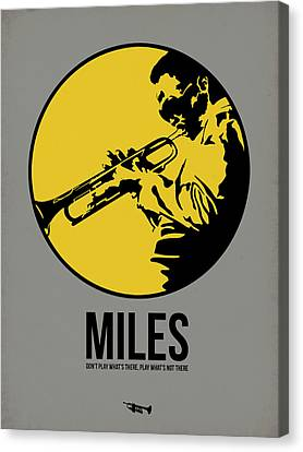 Miles Poster 3 Canvas Print by Naxart Studio