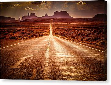 Miles To Go Special Request Canvas Print by Jennifer Grover