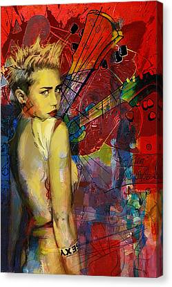 Miley Cyrus Canvas Print by Corporate Art Task Force