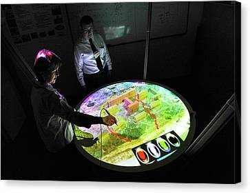 Military Conflict Simulation Canvas Print by Us Air Force/john Fischer