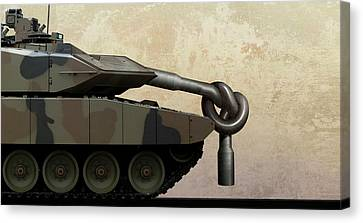 Military Disarmament Canvas Print by Smetek
