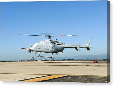 Military Helicopter Drone Canvas Print by Us Navy