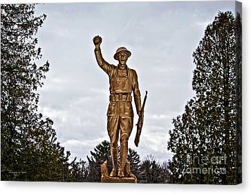 Military Soldier Memorial Canvas Print by Ms Judi