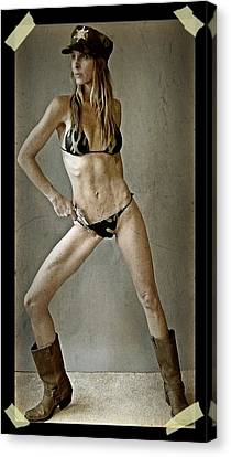 Military Woman 1 Canvas Print