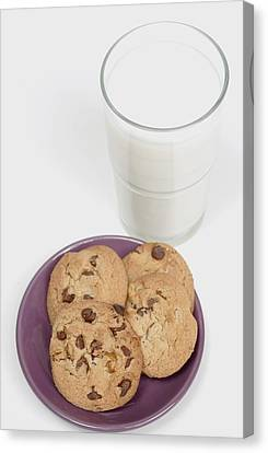 Milk And Cookies Canvas Print by Greenwood GNP