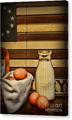 Milk And Eggs Canvas Print by Paul Ward