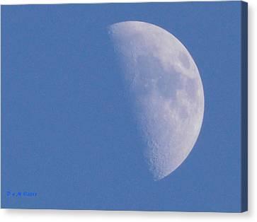 Canvas Print featuring the photograph Milk Moon  by Deborah Moen