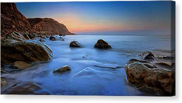 Stopper Canvas Print - Milky Blue by Mark Leader