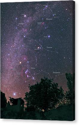Milky Way And Constellations Canvas Print by Babak Tafreshi