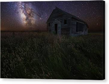 Milky Way And Decay Canvas Print by Aaron J Groen