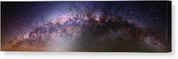 Nebula Canvas Print - Milky Way And Galactic Centre by Babak Tafreshi