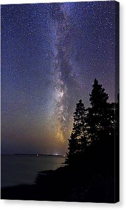 Milky Way At Acadia National Park Canvas Print