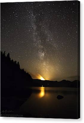 Milky Way At Crafnant 2 Canvas Print