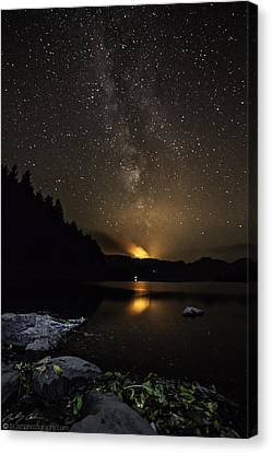 Milky Way At Crafnant Canvas Print
