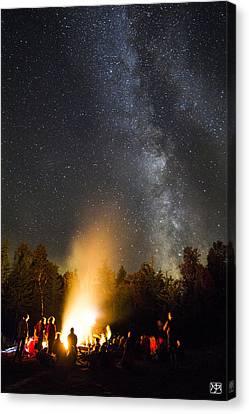 Milky Way At Flagstaff Hut Canvas Print