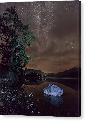 Milky Way At Gwenant Canvas Print