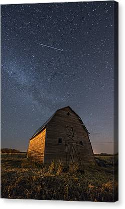 Milky Way Canvas Print - Milky Way Barn by Nebojsa Novakovic