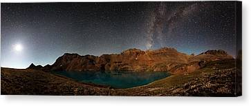 Copyright 2013 By Mike Berenson Canvas Print - Milky Way Dreams At Columbine Lake by Mike Berenson