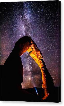Starry Canvas Print - Milky Way Explorer by Darren  White