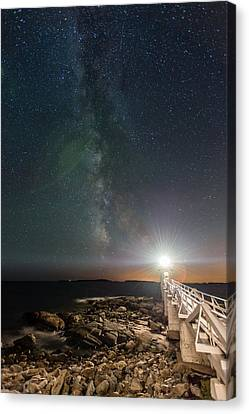 Milky Way From Marshall Point Canvas Print