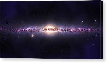 Milky Way Galaxy Canvas Print by Celestial Images