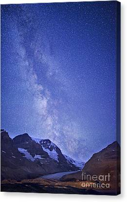 Milky Way In Jasper Canvas Print by Dan Jurak