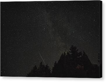 Milky Way Meteor Canvas Print by Michael Trofimov
