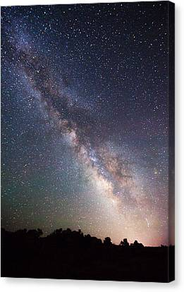 Milky Way On The Rocks Canvas Print by Darren  White