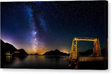 Milky Way Over Anvil Island Canvas Print by Alexis Birkill
